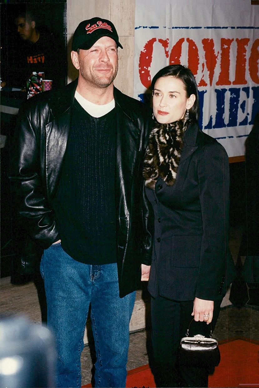 Vintage photo of Bruce Willis and Demi Moore at Woody Allen's premiere of Deconstructing Harry.[デミムーア][デミ・ムーア][ブルースウィルス][ブルース・ウィルス]