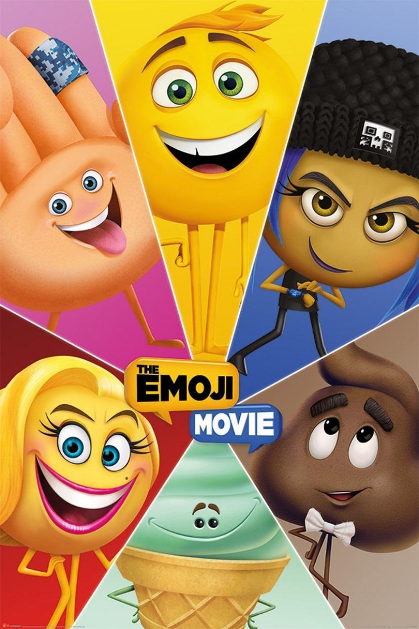 Laminated The Emoji Movie Star Characters Maxi Poster 61 x 91.5cm