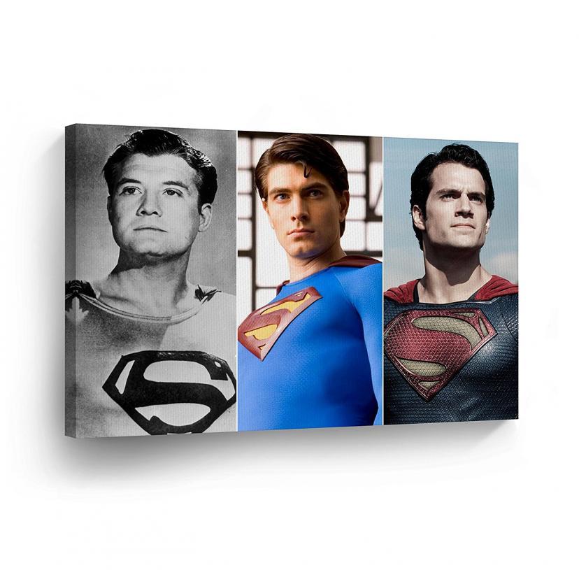 SUPERMAN Wall Art Canvas Print Three of a Kind Actors Three of a Kind Actors George Revees[マン・オブ・スティール][マンオブスティール][スーパーマン]