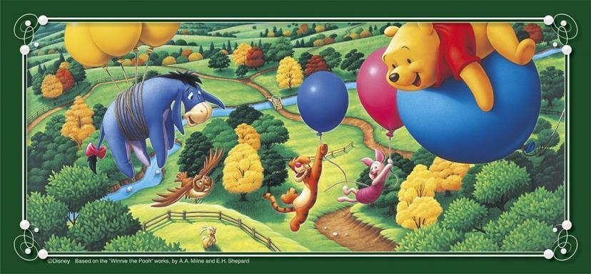 300ピース プチロング ディズニー 風船で空をいく (10x21.5cm)