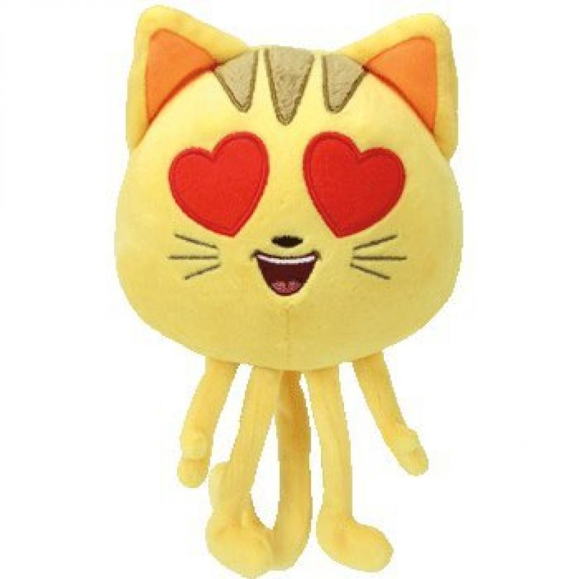 TY Beanie Boos Regular Plush By ADD & SHIP (Cat Heart Eye - The Emoji Movie)