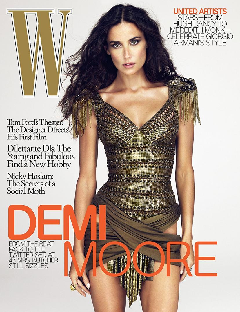 2009 W Magazine Editorial Photo Set With Demi Moore