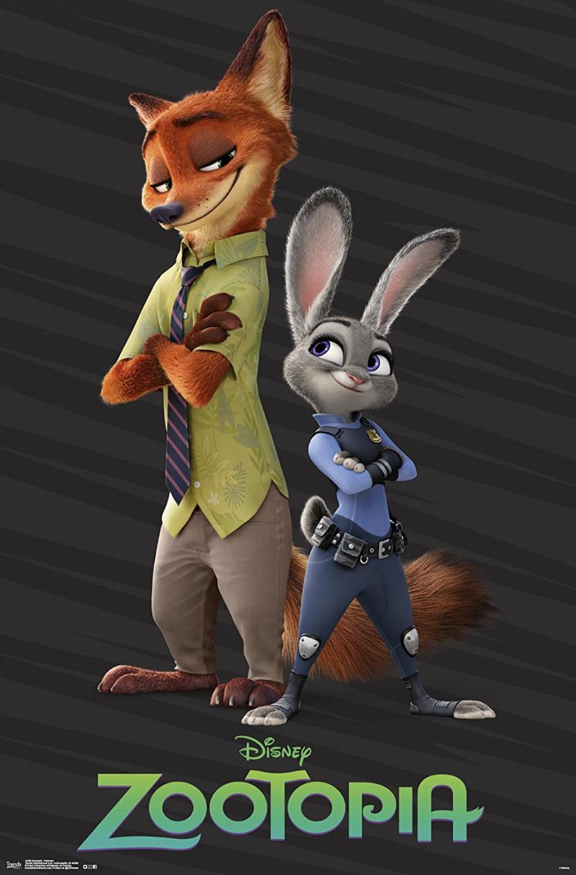 "Trends International Zootopia Partners Wall Poster 22.375"" x 34"" [ズートピア]"