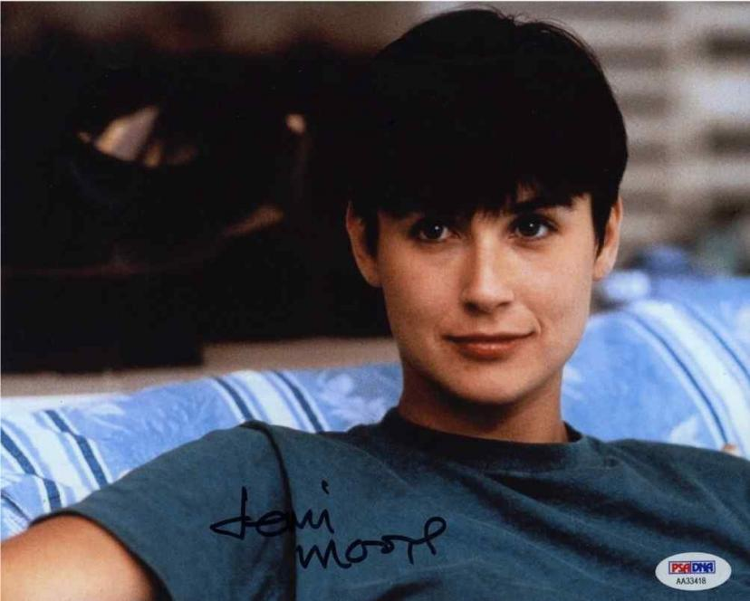 Demi Moore Ghost Signed 8x10 Photo Certified Authentic PSA/DNA COA[デミムーア][デミ・ムーア]