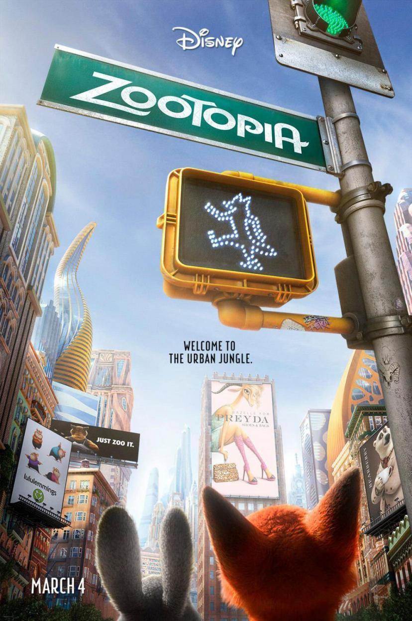 Tomorrow sunny Zootopia Animation 2016 Silk POSTER Room Decor Prints 60*90cm Zoot1 [ズートピア]