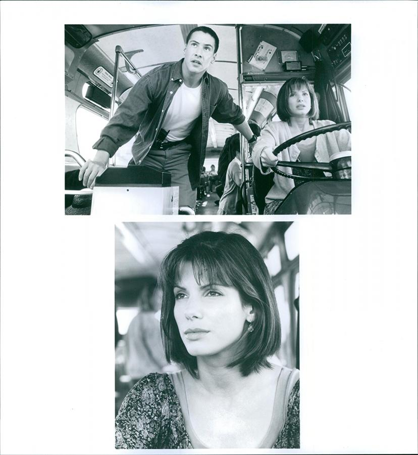 "Vintage photo of A photo of Keanu Reeves and Sandra Bullock in a film ""SPEED"" 1994 [サンドラブロック][サンドラ・ブロック]"