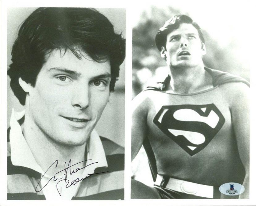 Christopher Reeve Superman Autographed B&W 8x10 Photo - Beckett Authentic[クリストファー・リーブ][スーパーマン][クリストファーリーブ]
