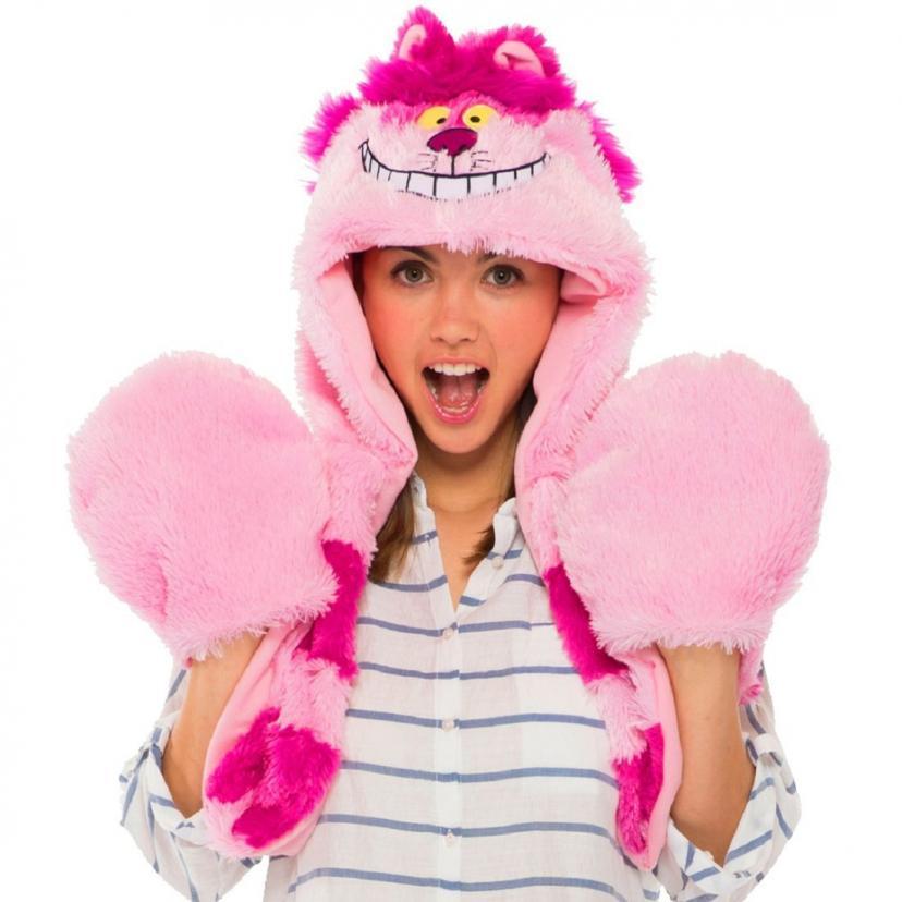 ディズニー ふしぎの国のアリス チェシャ猫 ムービング モコモコ フード コスチューム用小物 男女共用 長さ105㎝ 95385