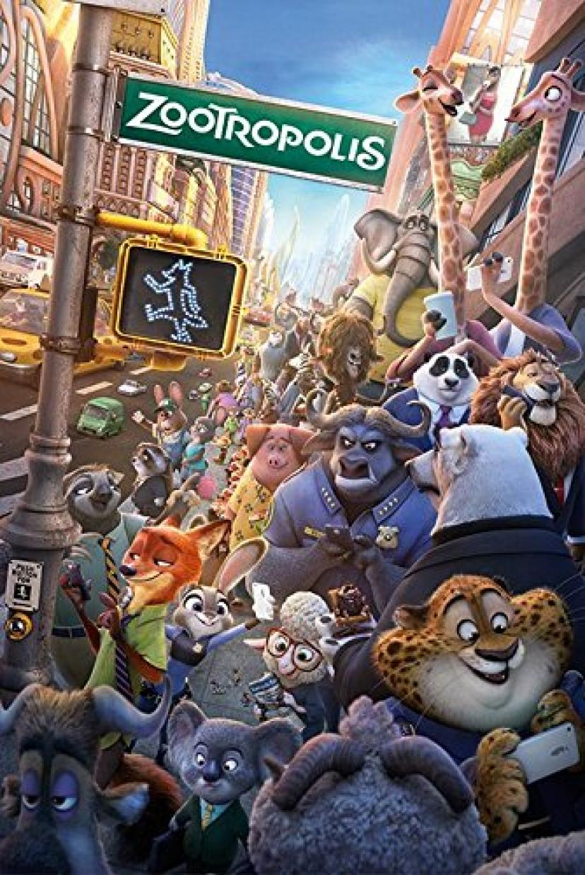 "Zootropolis / Zootopia - Disney Movie Poster / Print (Regular Style) (Size: 24"" x 36"") (By POSTER STOP ONLINE) [ズートピア]"