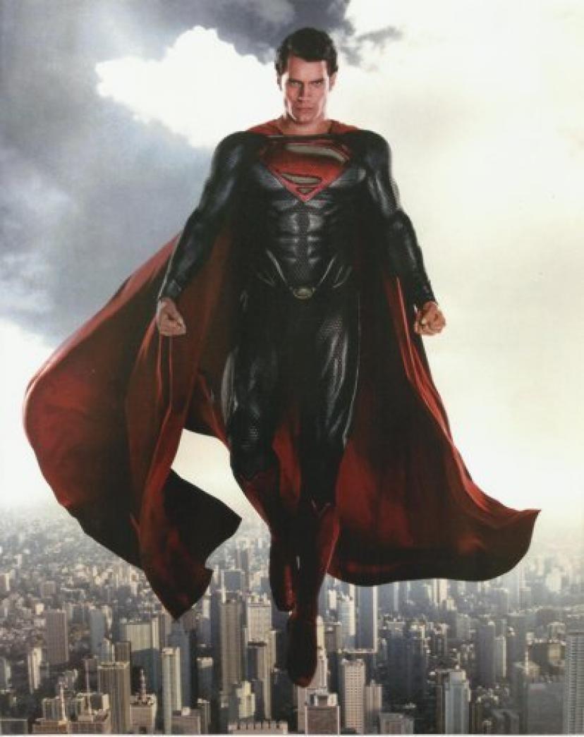 Man of Steel Henry Cavill in Superman uniform above Metropolis 8 x 10 Photo[スーパーマン][マンオブスティール][マン・オブ・スティール]