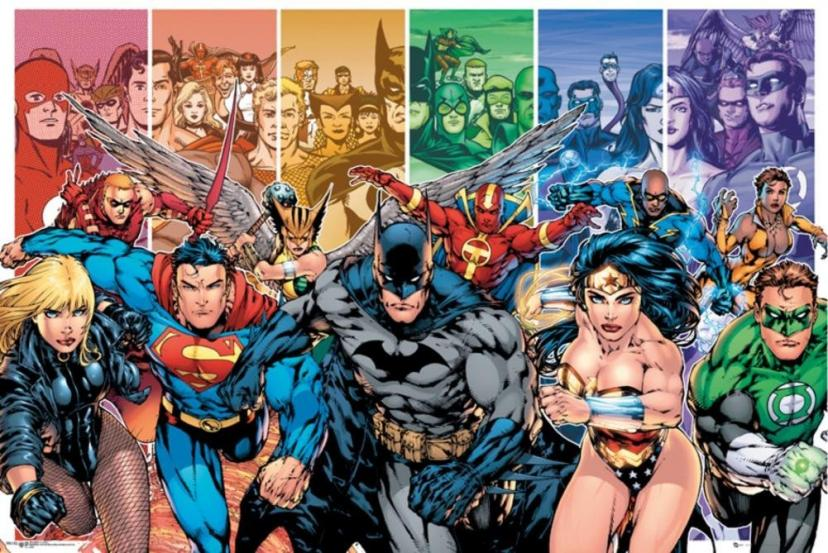 DC Comics Justice League Characters Poster 36 x 24in