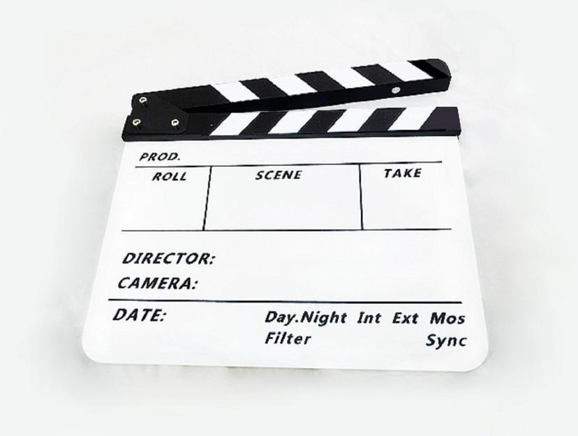 【ノーブランド 品】クラッパーボードスレート カチンコ テレビ フィルム 映画 下見板 ホワイトボード 黒と白ストライプ付き