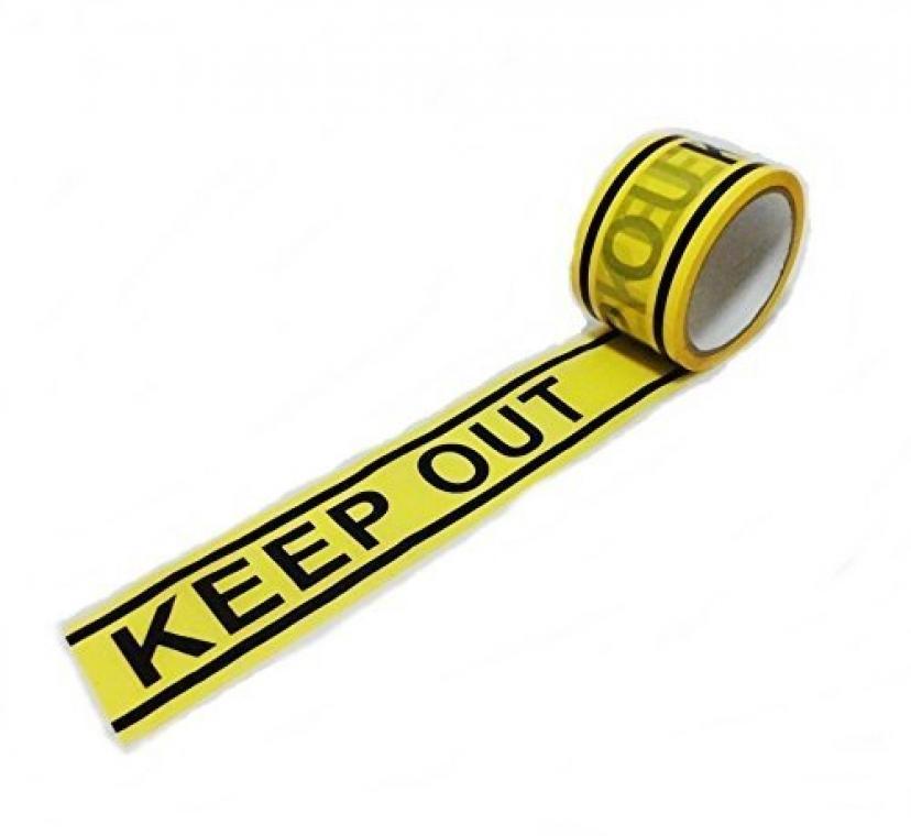 バリケードテープ おもしろ雑貨 立入禁止 KEEP OUT キープアウトテープ+スマホスタンド付 /SV442