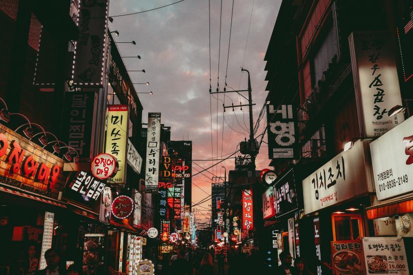 韓国 街並み フリー画像