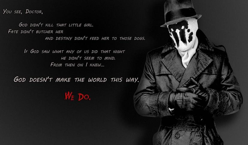 Watchmen rorschach Quote Playmat