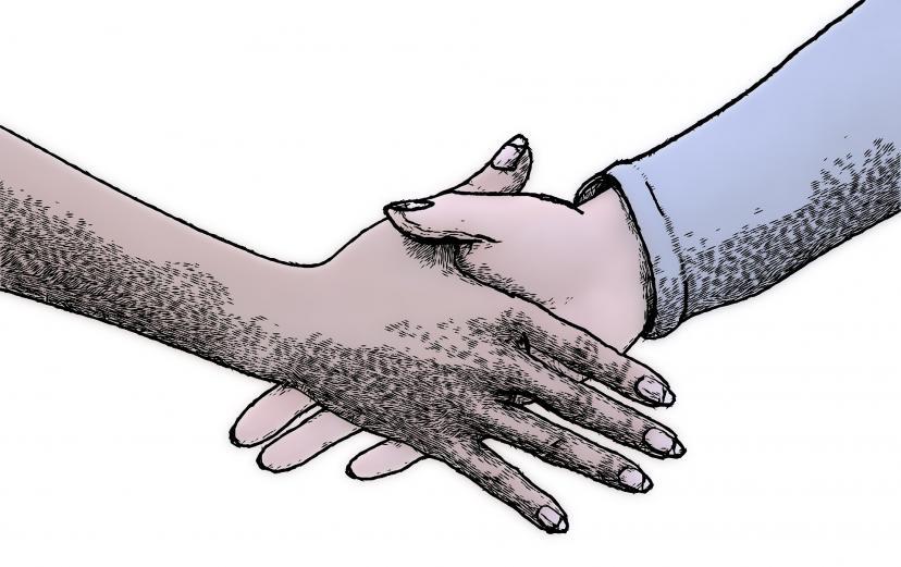 商用フリー素材 握手