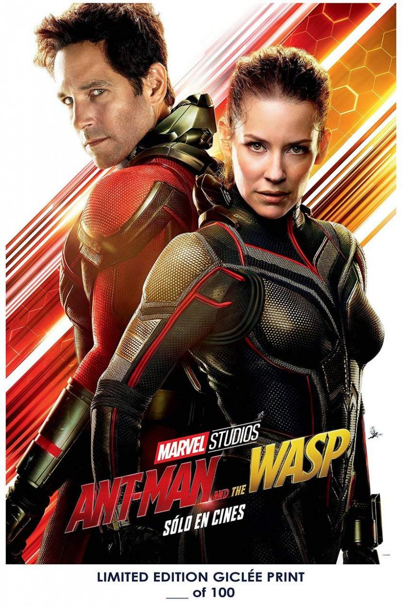 Lost Posters RARE POSTER marvel ANT-MAN AND THE WASP paul rudd 2018 evangeline lilly REPRINT #'d/100!! 12x18