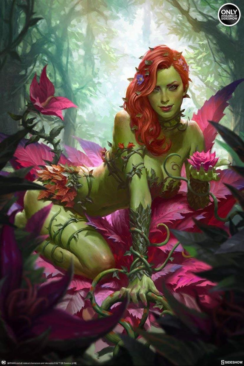 DC Comics Collectibles Poison Ivy ポイズン・アイビー Art Print by Sideshow