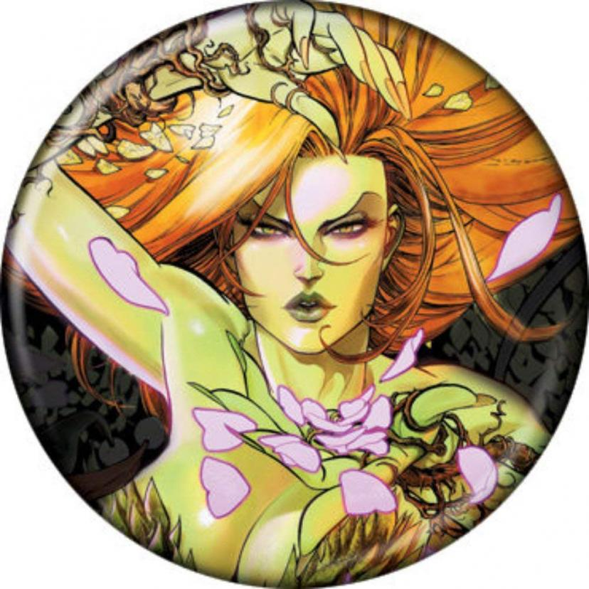 "Licensed DC Comics (Batman Villains) Poison Ivy Sirens 1.25"" Button/Pinback B-day Party gifts - with Gift Box DC Comics"