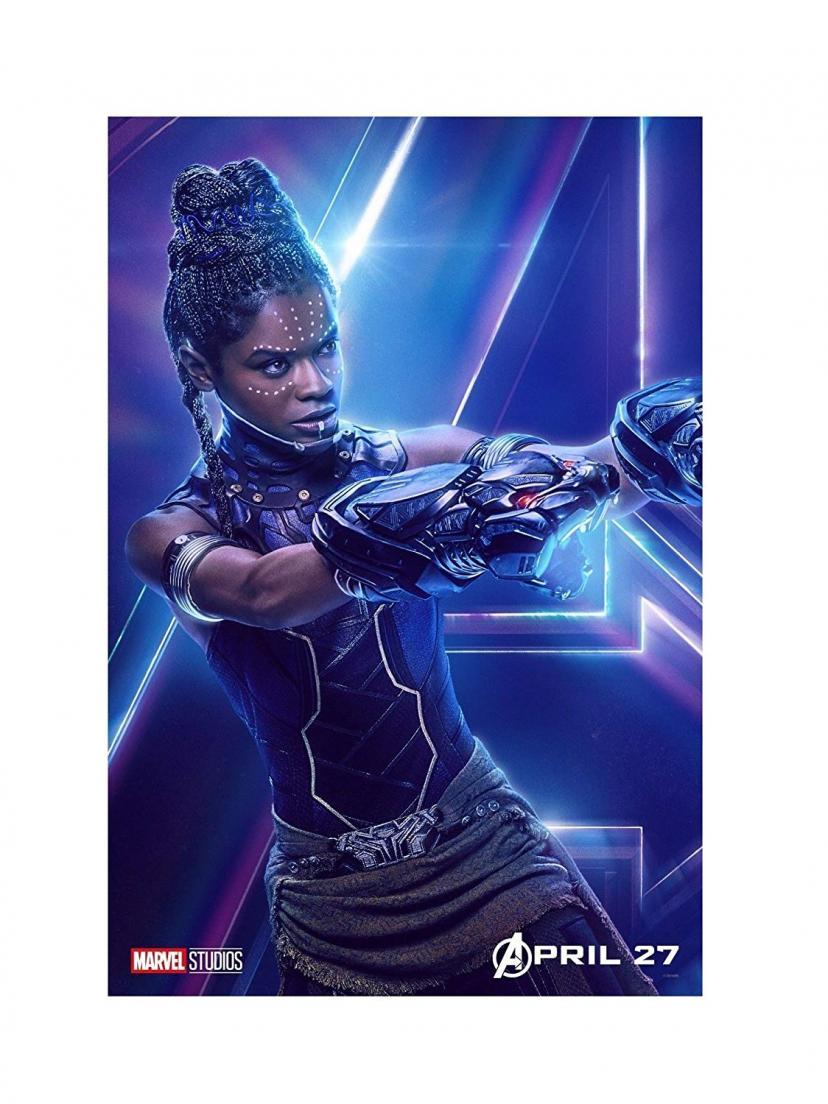 "Avengers Infinity War Movie 13x20"" 27x40"" 32x48"" Characters Film Print (Shuri, 36""x24"" (90x60cm))"