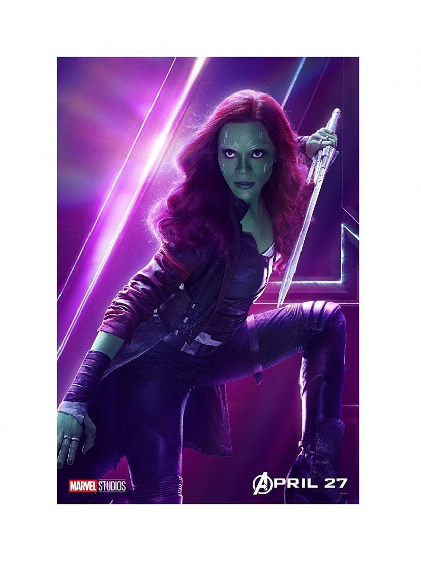 "Avengers Infinity War Movie 13x20"" 27x40"" 32x48"" Characters Film Print (Gamora, 36""x24"" (90x60cm)) by Unknown"
