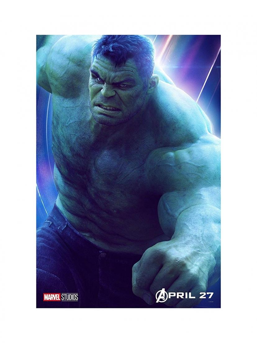 "Avengers Infinity War Movie 13x20"" 27x40"" 32x48"" Characters Film Print (The Hulk, 36""x24"" (90x60cm))"