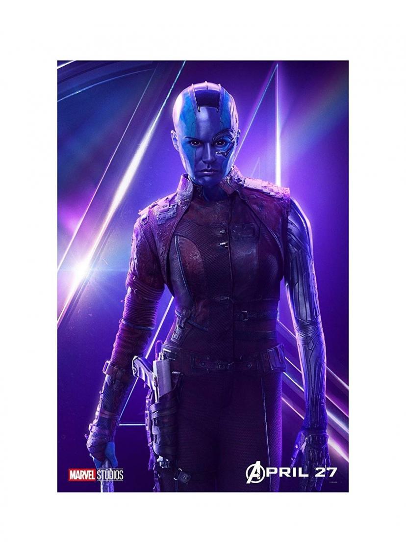 "Avengers Infinity War Movie 13x20"" 27x40"" 32x48"" Characters Film Print (Nebula, 36""x24"" (90x60cm))"