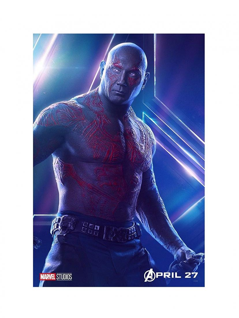 "Avengers Infinity War Movie 13x20"" 27x40"" 32x48"" Characters Film Print (Drax the Destroyer, 36""x24"" (90x60cm))"