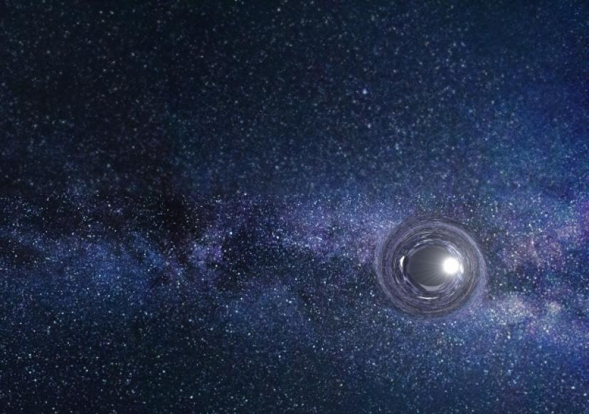 宇宙、星、銀河、ブラックホール、ワームホール、フリー画像