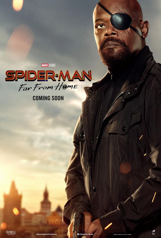 サミュエル・L・ジャクソン『スパイダーマン:ファー・フロム・ホーム』キャラクターポスター(サブ)