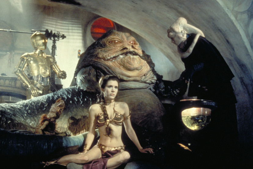 『スター・ウォーズエピソード6/ジェダイの帰還』C-3PO、ジャバ・ザ・ハット、レイア