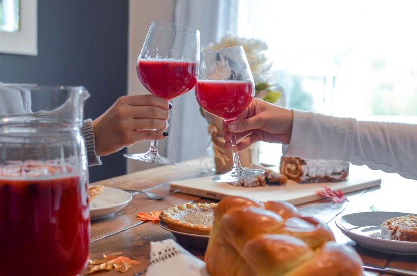 感謝祭ディナーお祝い