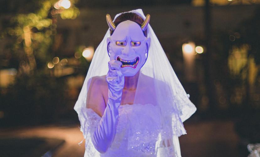 鬼嫁 結婚式 フリー画像