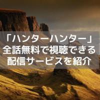 アニメ「ハンターハンター」(2011)を1話から無料で視聴できる動画配信サービス【b9より安全に】