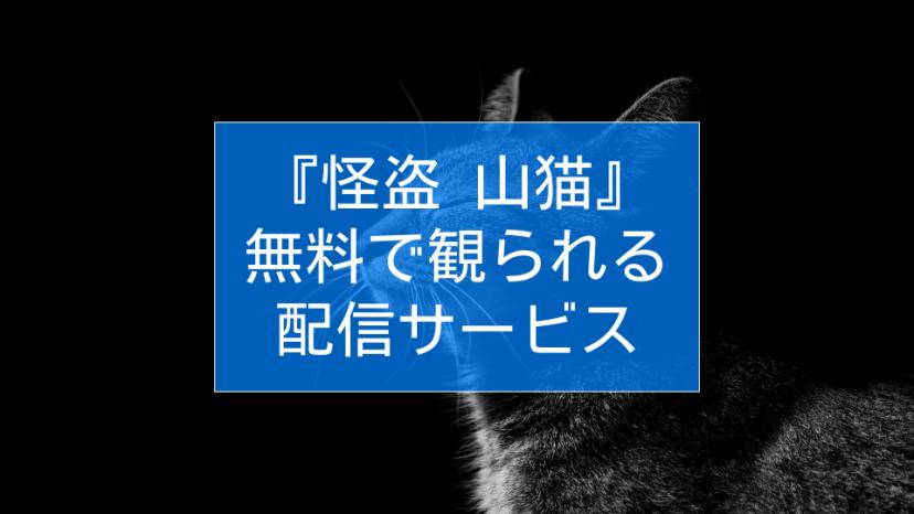 怪盗 山猫 動画