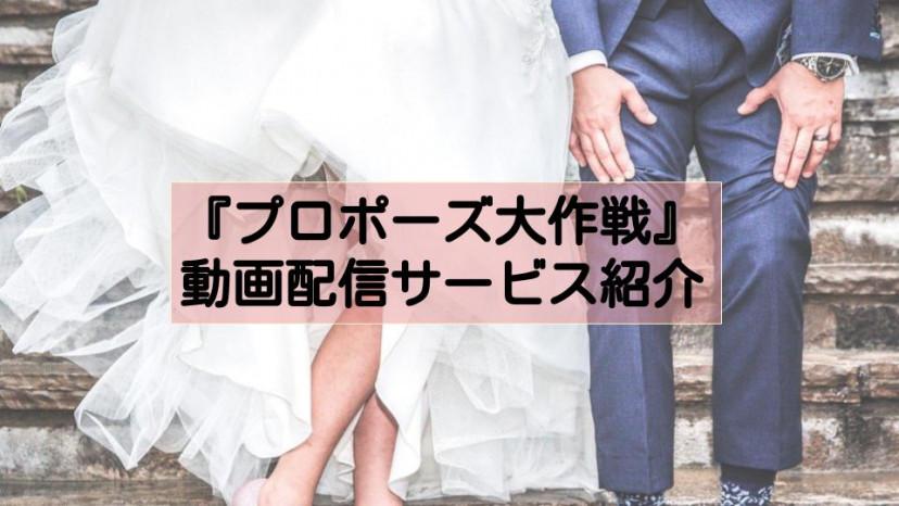 ドラマ『プロポーズ大作戦』配信系記事 サムネイル