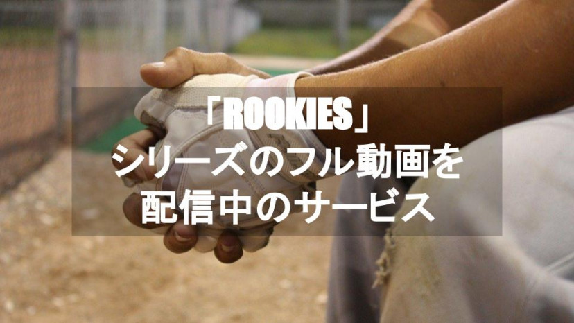 ROOKIES ルーキーズ 配信サービス紹介 サムネイル