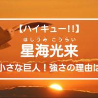 """【ハイキュー‼】鴎台のエース・星海光来を紹介!まさに""""小さな巨人"""""""