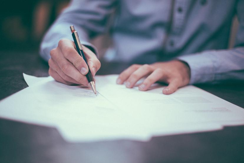 フリー画像、契約、紙、書く、ペン、署名