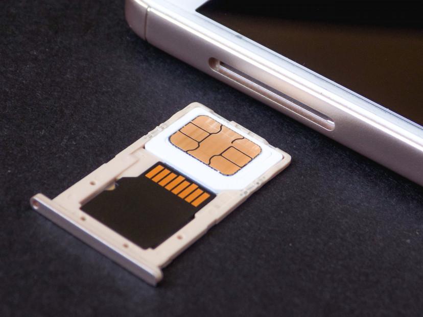 フリー素材、SIMカード、スマホ