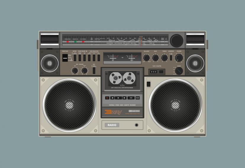 ラジオ、フリー素材