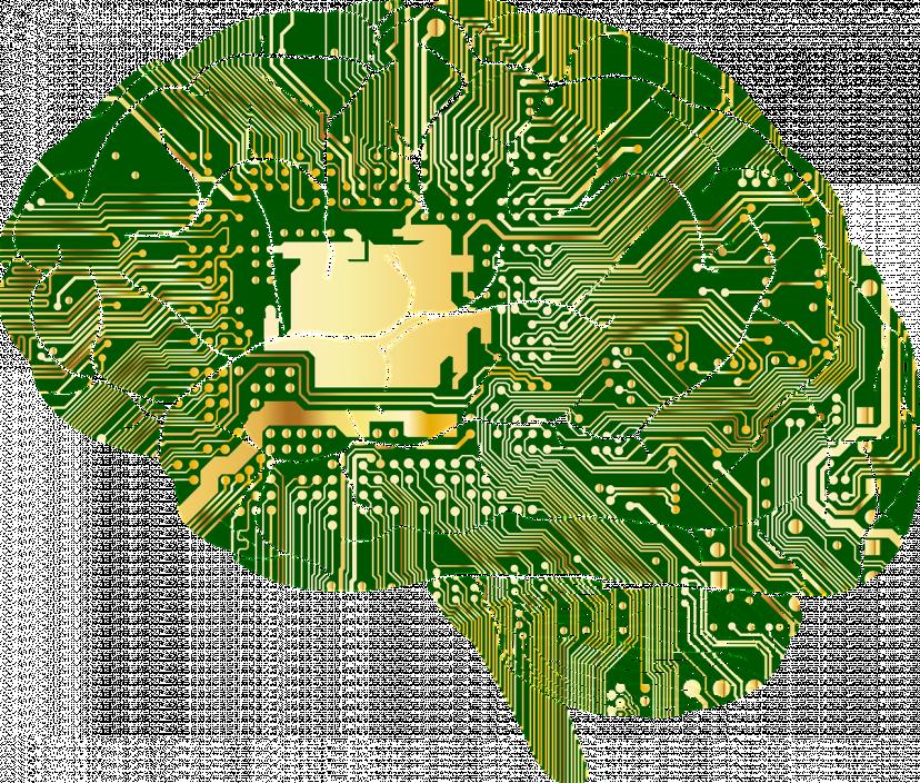 AI、脳、フリー素材