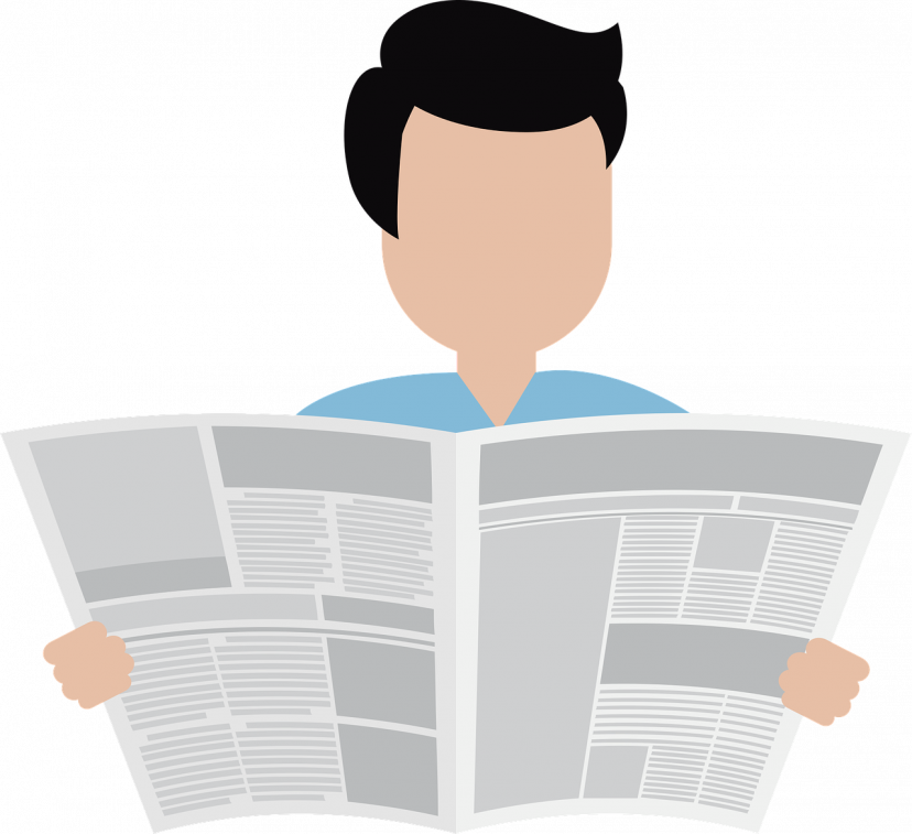 新聞紙、新聞、ニュース、フリー素材