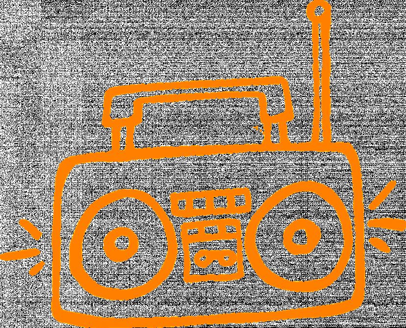 スピーカー、ラジオ、フリー素材