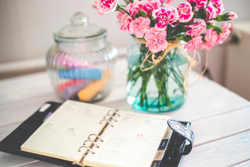 スケジュール、手帳、フリー素材
