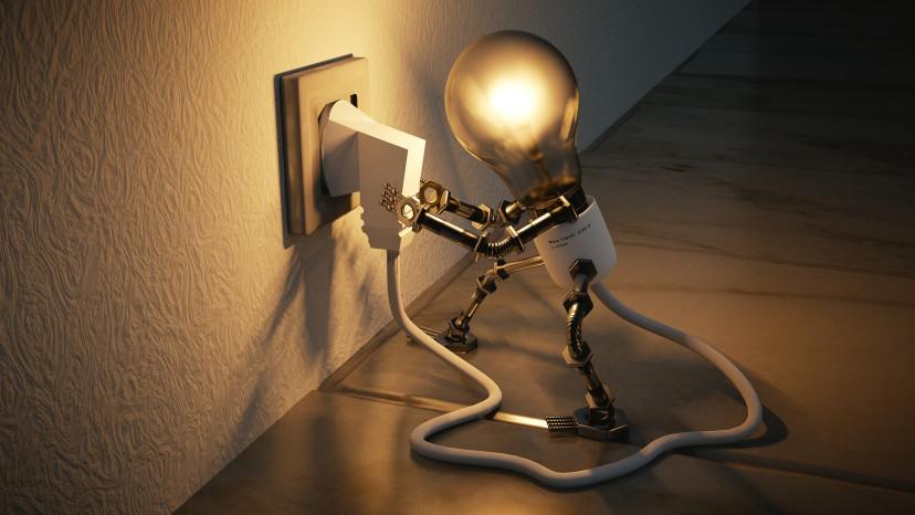 家電、電球、ライト、プラグ、フリー素材