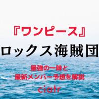 【ワンピース】ロックス海賊団のメンバーを紹介!最新メンバー予想は一体誰?
